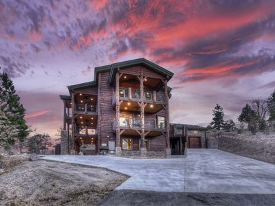 Photo for Mountain Masterpiece: High-End Custom Luxury Estate w/ Panoramic Lake Views, Game Room, Spa & more!