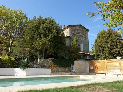 Photo for Recharge your batteries on the southern edge of the Cévennes in a typical mas with private pool