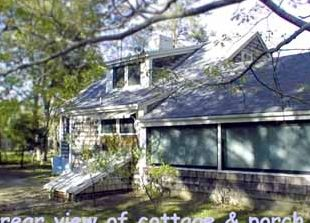 Rear View of Cottage & Porch