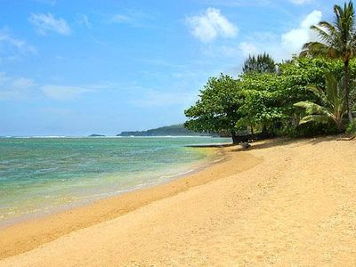 Photo for Beachfront on Anini Beach! Relaxed Outdoor Living, Large Lanai, Manicured Garden