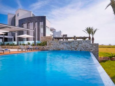 Photo for Landou Seafront Villa - Luxury 6 Bedroom Villa on 4 Floors with Elevator, Private Infinity Pool, Air Conditioning, Sauna and Roof Terrace ! FREE WiFi