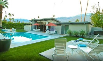 Photo for Mid-Century modern home close to downtown with pool, jacuzzi, and fire pit
