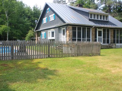 Photo for Renovated Private Mountain Retreat on 83 Acres with pool hot tub & hiking trails
