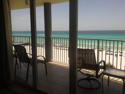 Wonderful gulf beach view from the living area