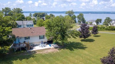 "Photo for Lakeside Lookout: ""Gorgeous Seneca Lake Views Right Off Wine Trail!"""