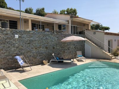 Photo for VILLA FOR 8 PEOPLE WITH HEATED SWIMMING POOL AND SEA VIEW