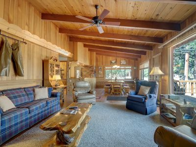 Photo for Cozy, dog-friendly cabin with incredible meadow and mountain views