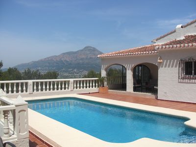 Photo for Stunning Modern Villa, Heated Pool, Mountain Views, 5 Bedrooms 4 Bathrooms
