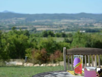 Photo for Luxury villa with private pool, panoramic views over the border of the Ardèche
