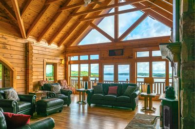 Living Room / Great Room - Amazing view of Douglas Lake