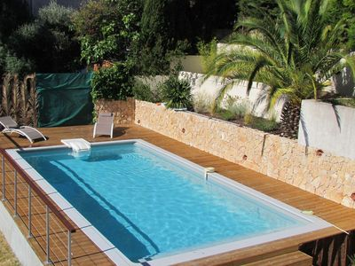 Photo for Charming and spacious villa with pool near Nice
