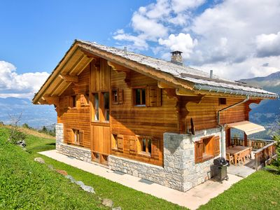 Photo for A superb chalet with sauna, open fireplace and. Matterhornview!
