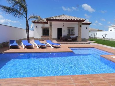 Photo for holiday home with very nice private pool in quiet surrounding for 4-6 persons, with WiFi and aircon and bicycles.