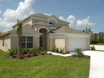 Photo for 5 BED VILLA CLOSE TO DISNEY PRIVATE POOL WIFI  GAMES ROOM LAKE VIEW