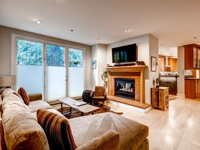 Photo for Luxury Retreat + Private Balcony & Fireplace | Access Pool & Hot Tub!