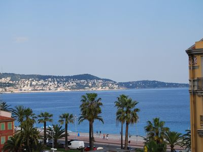 Photo for Charming apartment 4 people, sea view and Baie des Anges 4 stars!