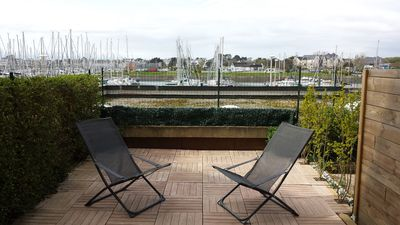 Photo for T2 apartment crouesty harbor view, 30sqm + 23sqm terrace.