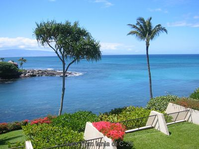 Photo for Ocean Front Napili Point C25, Great Views, Turtles Whales & Sunsets from Lanai