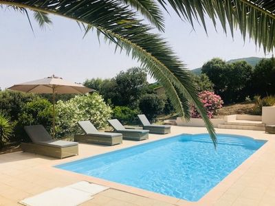 Photo for Charming villa with swimming pool in Campomoro and beach on foot