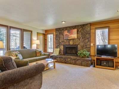 Photo for The Ridge at Sunriver - Condo #11 - Access provided to S.H.A.R.C. Aquatics Park. Only condos next door to S.H.A.R.C. Two minute walk to S.H.A.R.C. Facility. Private Ridge HOA Pool and Year Round Hot Tub Too! Includes 4 bikes.