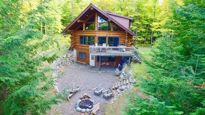 Overhead view of cabin.