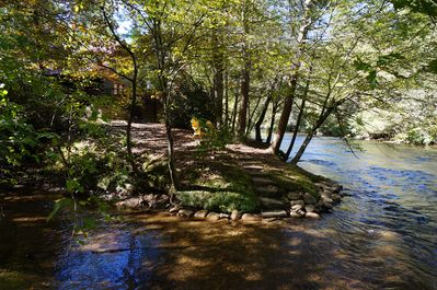 Easy access to to premiere trout stream Great for kids to play in the water.