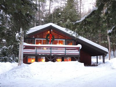 Photo for Warm, Cozy, Chalet Nestled In The Pines, WiFi, Close To Ski Areas, Attractions