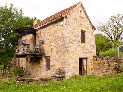 Photo for Self catering cottage for 2, overlooking the beautiful French countryside