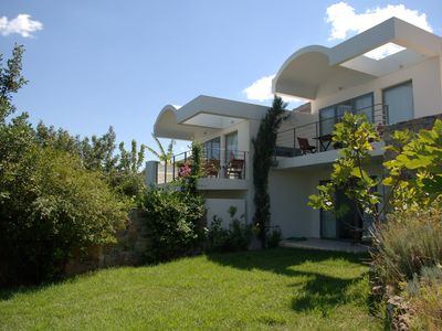 Photo for Beautiful, modern holiday home with pool, wifi, sea view - Elounda, Crete