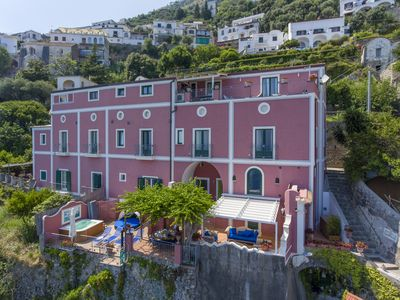 Photo for Palazzo Rocco All 3 villas - Amalfi coast - weddings - heated Jacuzzi - Sea View