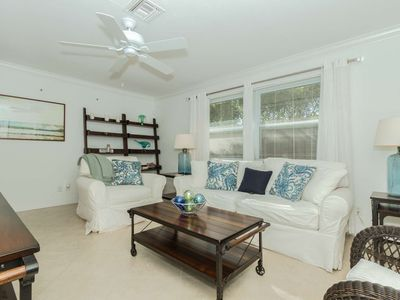 Privately heated pool & lanai  home;  one mile to beach; minutes to Dining & Shopping; Pet Friendly