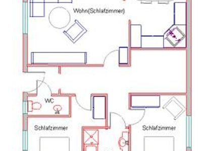 """Photo for Apartment """"A"""" / 2 bedrooms / bath, WC - Dorfruhe, holiday home"""