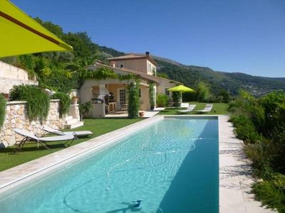 Photo for Beautiful villa with spectacular panoramic seaviews