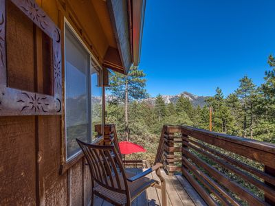 Photo for Cozy, dog-friendly A-frame cabin w/ a loft, furnished deck, & forest views
