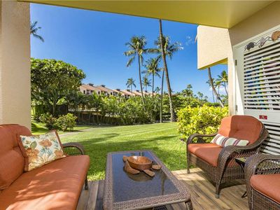 Photo for Completely remodeled 1bd/2ba ground floor condo in bldg 3 at Kamaole Sands. Sleeps 4. 3-101