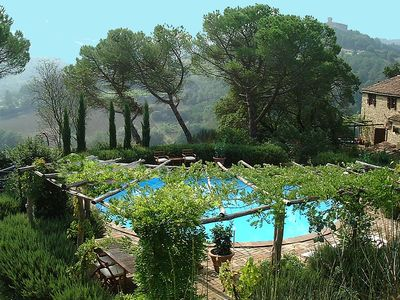 Photo for Tuscany: 17th century hillside farmhouse villa - private pool - stunning views