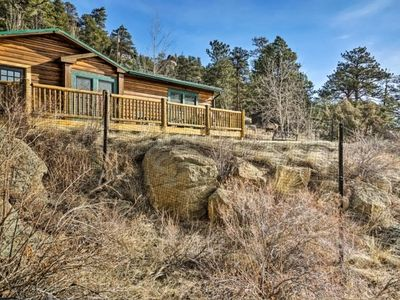 Photo for Rocky Top Log Home   New Listing - New Secluded Estes Park Cabin on 2+ Acres with Hot Tub with Magnificent Views!