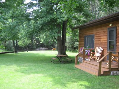 Photo for Historic 'River Cabin' On The 'Holy Waters' Of The Ausable River Now with AC!