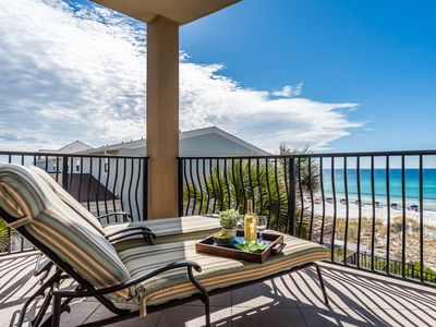Photo for Villa Coyaba 201 ~ Luxury Gulf Front Condo! Fireplace & Gulf Views!