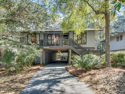 Photo for Scenic view cottage with sunroom, deck, & community pool - close to beach/golf!