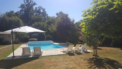 Photo for Villa des Oliviers: comfortable house with private garden and pool