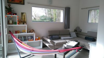 Photo for House on the edge of the wood Ploëmel, 15 minutes from the beaches of Erdeven or Carnac.