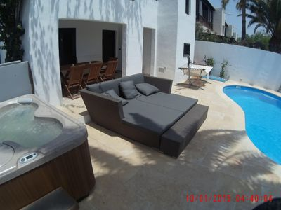 Photo for Wellness oasis with private pool-sauna-whirlpool in the heart of Puerto del Carmen