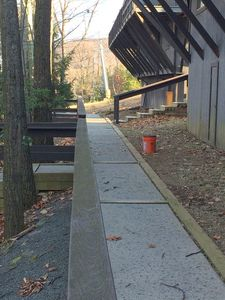 Walkway to Slopes from the front of the house