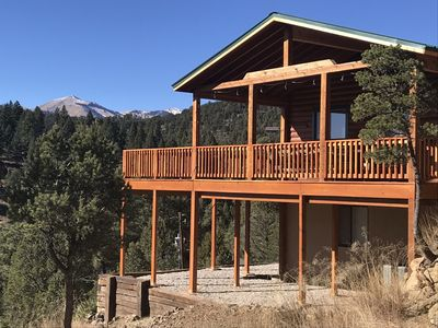 Photo for Great Sierra Blanca View, 7300 Ft, New Deck,Hot Tub, Wifi, 2 Car Garage,near Ski