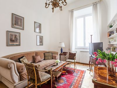 Photo for Classical Apartment in 18th Century Palazzo, Steps from the Pantheon