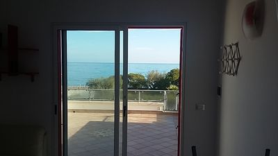 Photo for Panoramic studio apartment on the San Foca seafront