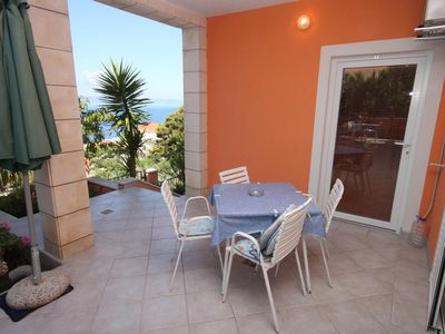 Photo for One bedroom apartment with terrace and sea view Podgora, Makarska (A-6911-a)