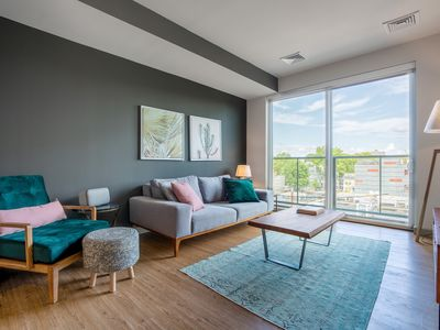 Photo for Mod Kendall Square 1BR w/ W/D, near Mass General Hospital, by Blueground