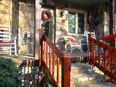 Front porch with rocking chairs to watch wildlife